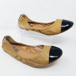 Steve Madden shoe FAVORYTE tan leather ballet 9.5M